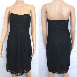J. Crew Strapless Lace Dress